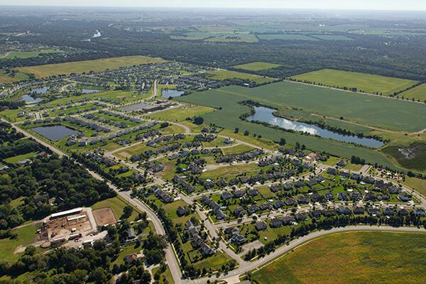 Prairie Meadows Aerial View of Yorkville