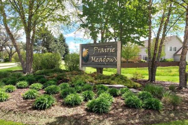 Prairie Meadows Landmark Sign